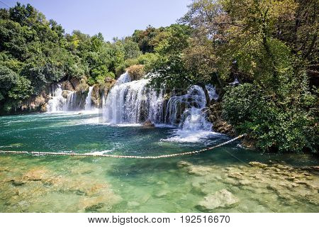 Waterfall in Croatia - Krka National park lake