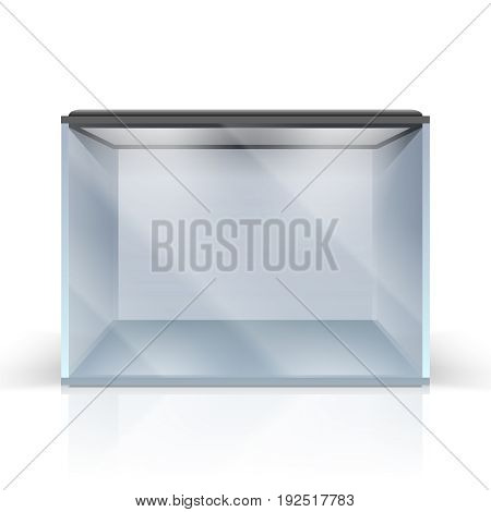 Blank vector aquarium on a Isolated on white background, vector illustration.eps: Failed: You must provide a high-quality JPEG when uploading this kind of file