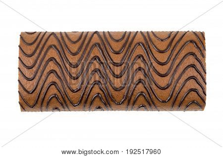 Swiss Roll Isolated On White Background