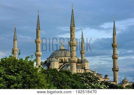 Blue mosque building architecture, Istanbul city, Turkey