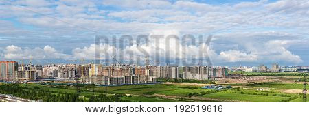 construction of a new district of Snkt-Peterburg