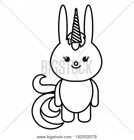 Stuffed animal rabbit icon vector illustration design draw