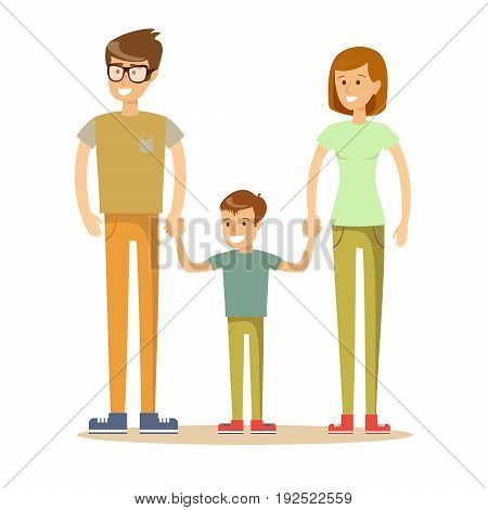 Family Icon in trendy flat style isolated on white background. Parents symbol for your web site design, logo, app, UI. Vector illustration