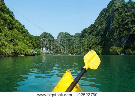 Kayaking Though The Halong Bay First Person