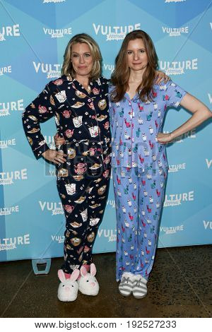 NEW YORK, NY - MAY 21: (L-R) Actors Jessica St Clair and Lennon Parham attend 'Playing House Pajama Brunch' during the 2017 Vulture Festival at Milk Studios on May 21, 2017 in New York City.
