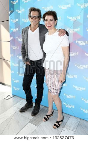 NEW YORK-MAY 21: Kevin Bacon and Commissioner of NYC Mayor's Office of Media & Entertainment Julie Menin attend 'One Degree From Kevin Bacon' at The Standard High Line on May 21, 2017 in New York.