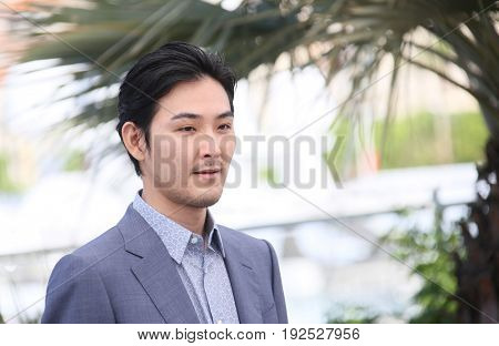 Ryuhei Matsuda attends 'Before We Vanish (Sanpo Suru Shinryakusha)' photocall during the 70th annual Cannes Film Festival at Palais des Festivals on May 21, 2017 in Cannes, France.