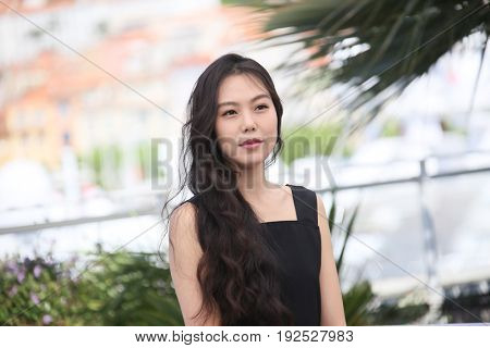 Kim Minhee attends the 'Claire's Camera (Keul-Le-Eo-Ui-Ka-Me-La)' Photocall during the 70th annual Cannes Film Festival at Palais des Festivals on May 21, 2017 in Cannes, France. (