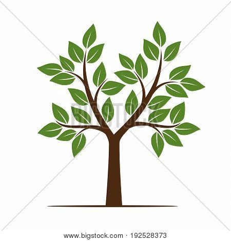 Color Tree. Vector Illustration and graphic element.