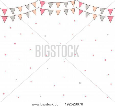 Vector background with party bunting flags and dots