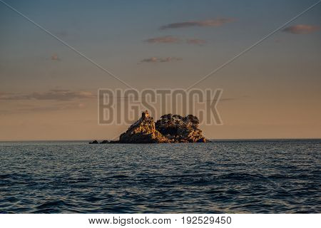 Sveta Nedjelja Island in Montenegro in the Adriatic Sea