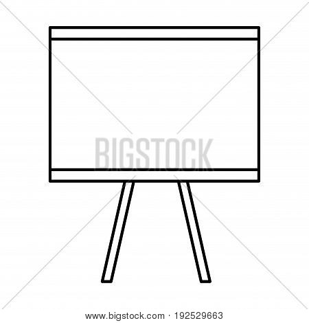 Flipchart board isolated icon vector illustration design