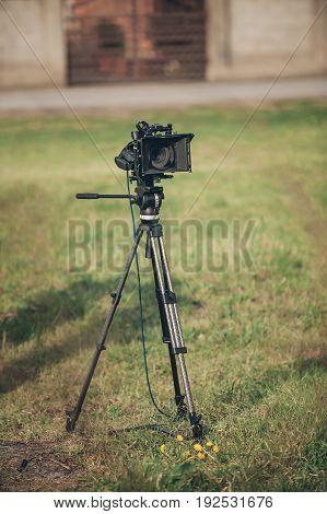 Behind The Scene. Film Camera
