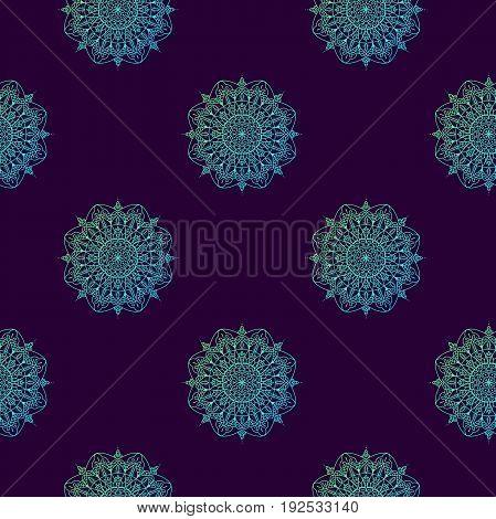 Arabic Pattern. Indian, Islamic, Japanese Motifs. Mandala Seamless Pattern. Ethnic Bohemian Backgrou