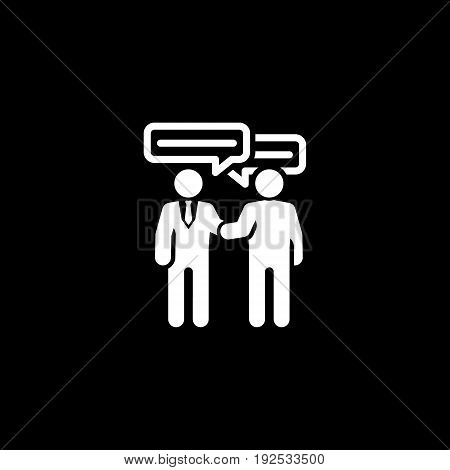 Deal Icon. Flat Design. Business Concept. Isolated illustration of a meeting of two businessmen