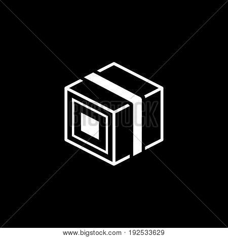 Product Branding Icon. Flat Design. Business Concept. Isolated Illustration with cardbox