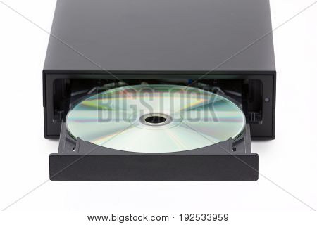 Cd / Dvd Burner On White Background