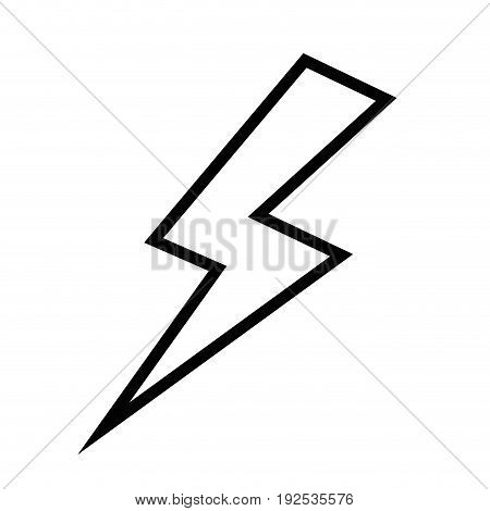 thunder icon over white background vector illustration