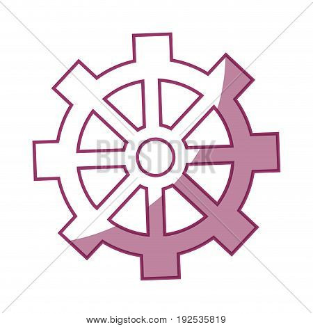 gear wheel icon over white background vector illustration