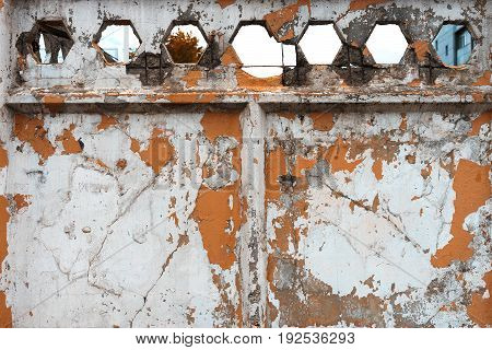 Horizontal orange rusty old fence wall texture background hd