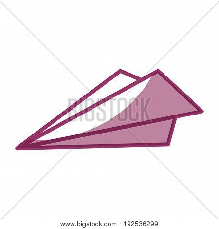 paperplane icon over white background vector illustration