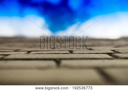 City limit wall fresh blue sky background hd