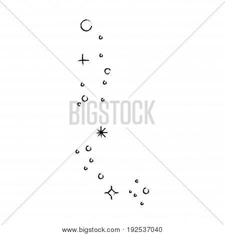 ornament burst of stars icon over white background vector illustration