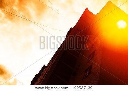 City sunset with light leak background hd