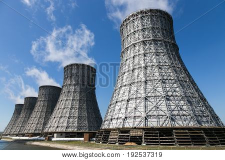 Cooling towers of Nuclear power plant in Novovoronezh
