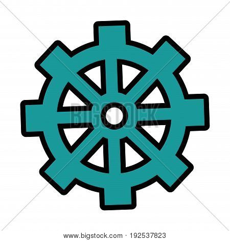 gear wheel icon over white background colorful design vector illustration