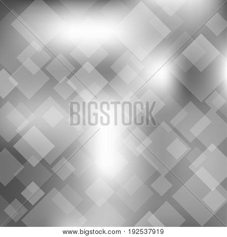 Abstract gray transparent square on background. Vector