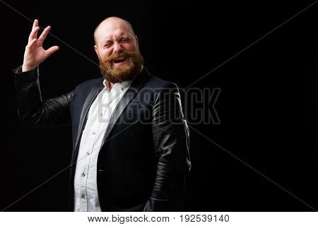 Artistic man with ginger beard