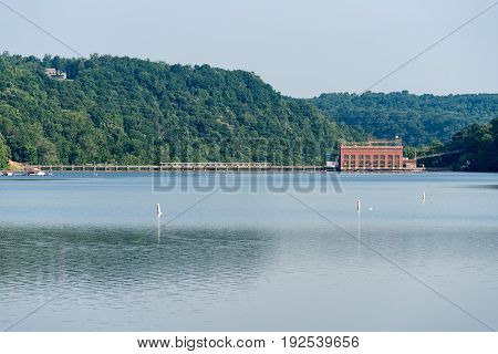 Lake Lynn hydroelectric power station on Cheat Lake near Morgantown, West Virginia