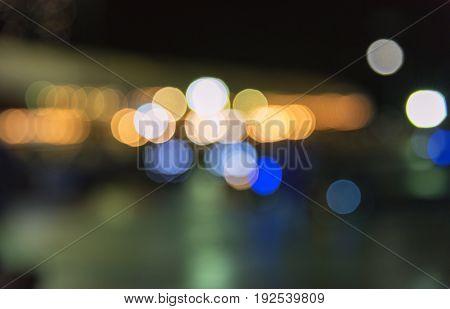 Abstract bokeh light on the road traficjam