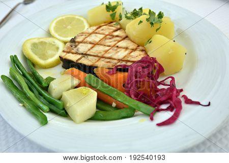 Tuna Steak On The Plate
