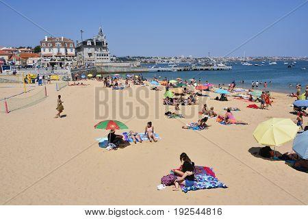 Praia Da Rainha Public Beach. Cascais. Portugal