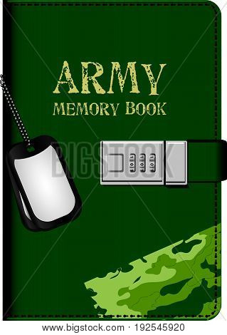 Army memorial book and personal soldier tokens