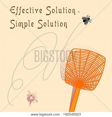 Banner An effective solution is a simple solution using fly swatter to fight insects.