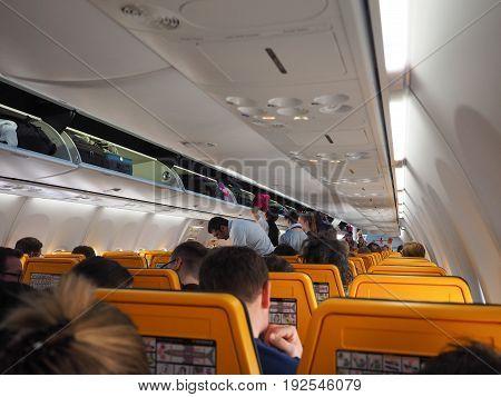Ryanair Boeing 737-800 Interior In Hamburg