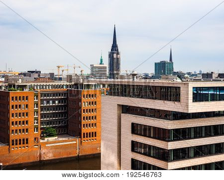 Hamburg Skyline View Hdr