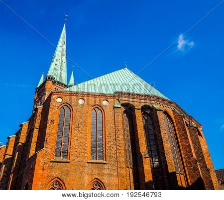 St Petri Church In Luebeck Hdr