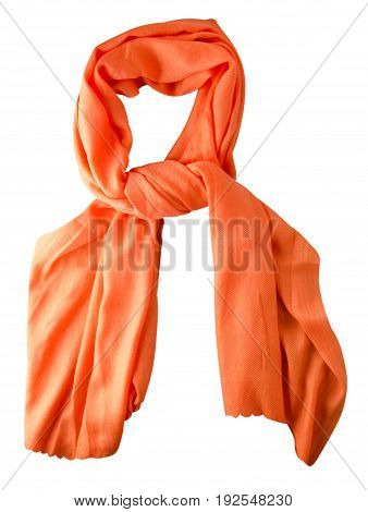 Scarf Summer. Multicolored Scarf. Scarf Top View.orange Scarf