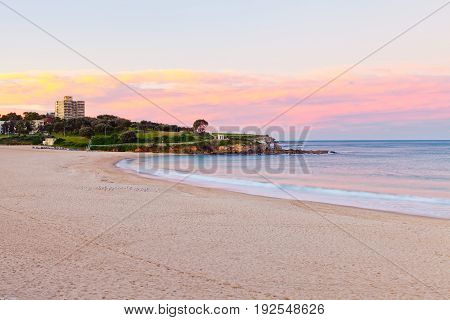 Coogee Beach sunset on Sydney's Eastern Beaches in Australia