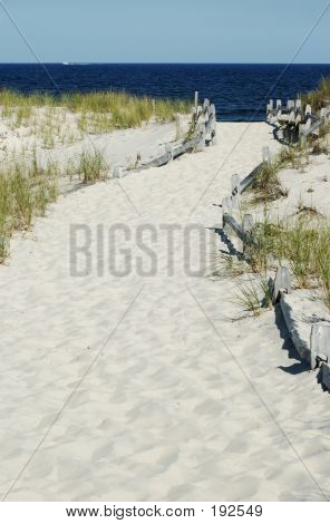 White Sand Path To The Beach