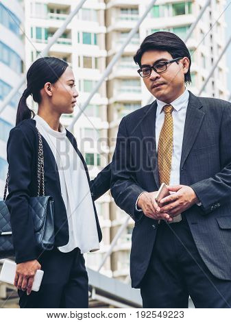 Unhappy Business Man And Business Woman