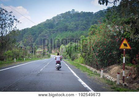 Street In Dalat, Vietnam