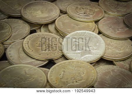 Old Dirty Collection Of Coins For Sale