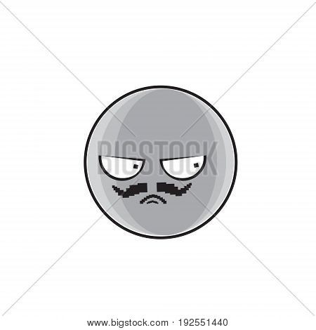 Angry Cartoon Face Expression People Emoticon Emoji Vector Illustration
