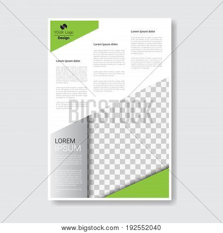 Template Design Brochure, Annual Report, Magazine, Poster, Corporate Presentation, Portfolio, Flyer With Copy Space Vector Illustration