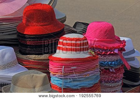 Hats For Sale at Market Goa India